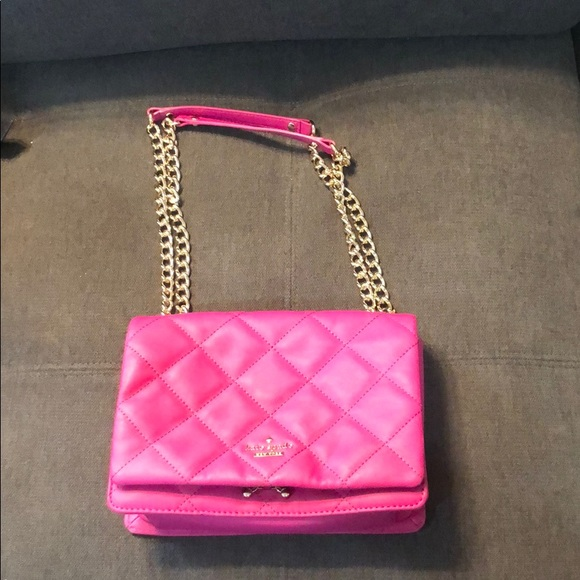 kate spade Handbags - Kate Spade fuchsia quilted bag, barely used